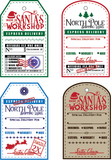 North Pole Shipping Label 6x8 Clear Stamp Set {A180}