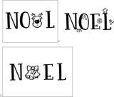 Noel 4x6 Clear Stamp Set Retail $12.99