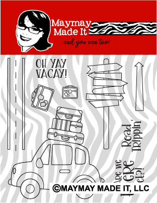 Oh Yay Vacay 4 x 4 Clear stamp set {A106}