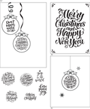 Ornamental Greetings 6x8 Clear Stamp Set Retail $18.99