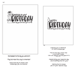 Birthday Blessings 4x6 Stamp Set {A147}