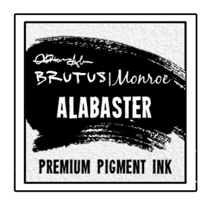 Alabaster White Pigment Ink Pad 2x2 inch