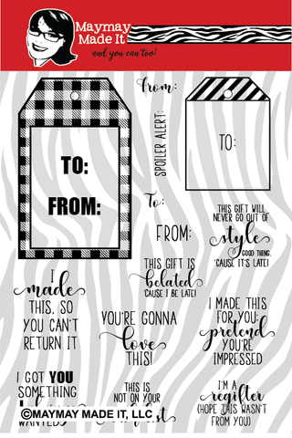 Tag It  6x8 Clear Stamp Set {A158}