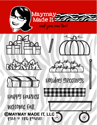 Wheelie Full Wagon 4x4 Stamp Set {A18}