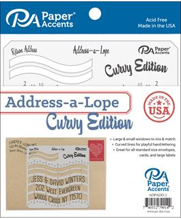 Curvy Address-a-Lope Address Template {D156}