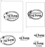 All Things 4x6 Stamp Set {A20}
