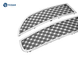 Fedar Dual Weave Mesh Grille Insert For 05-07 Dodge Magnum - Black / Polished