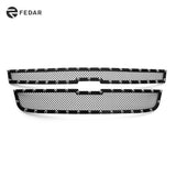 Fedar Rivet Mesh Grille Insert For 04-12 Chevy Colorado - Full Black
