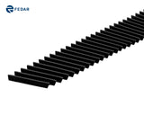 Fedar Billet Grille Combo For 2004-2005 Ford F-150 (Vertical) - Black