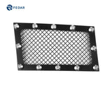 Fedar Rivet Mesh Grille Insert For 07-14 Cadillac Escalade - Full Black