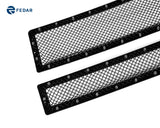 Fedar Rivet Formed Mesh Grille Combo Insert For 14-15 Chevy Silverado 1500 - Full Black