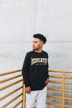 Black [Educated] Long Sleeve T-Shirt