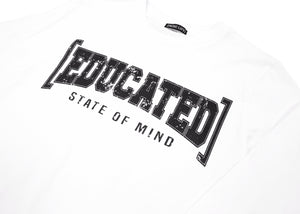 White [Educated] Long Sleeve T-Shirt