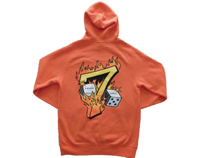 Lucky Number 7 Hoodie [ORANGE]