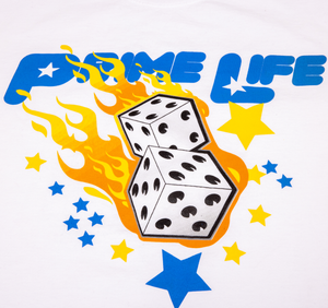 Shooting Dice Tee [ White ]