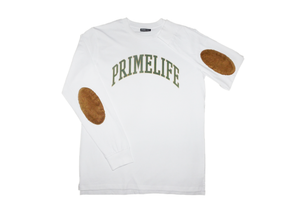 Collegiate Long-Sleeve [white/green]