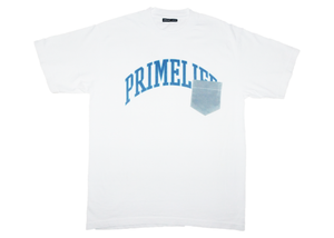 Collegiate T-shirt [white/blue]