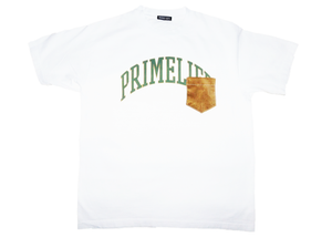 Collegiate T-shirt [white/green]
