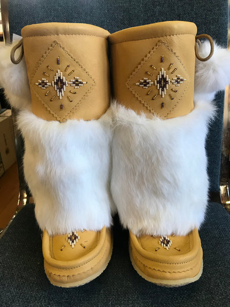 Moose Hide Mukluks-Natural