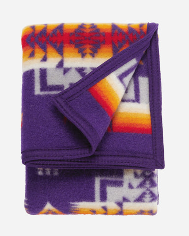 Chief Joseph Baby Blanket by Pendleton-Purple
