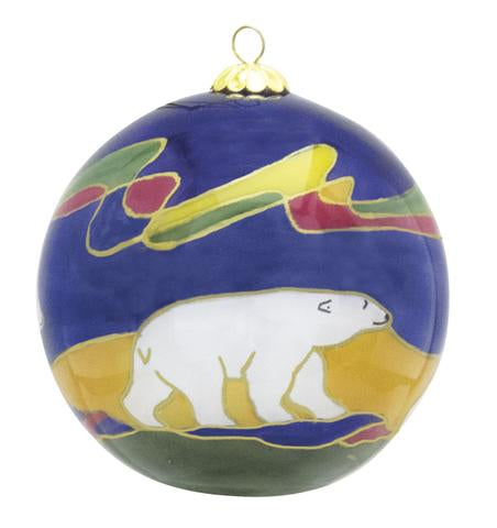Polar Bear Glass Ornament