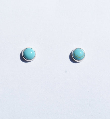 Round Turquoise Studs-Small