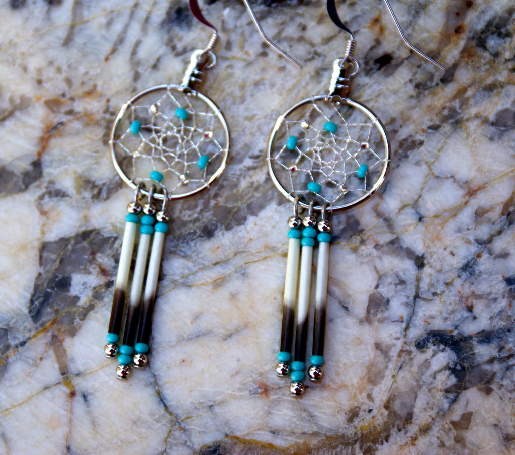 Porcupine and Dreamcatcher Earrings
