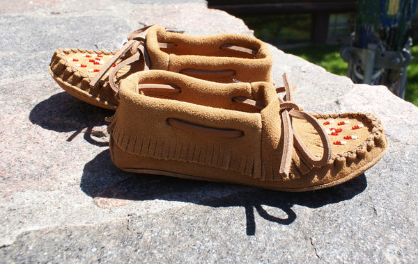 Children's Fringed Suede Moccasin