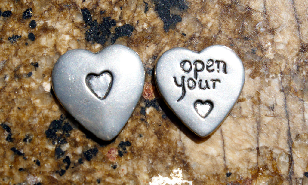 Open Your Heart Inspirational Coin