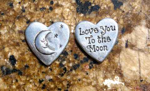 Love You to the Moon Inspirational Coin