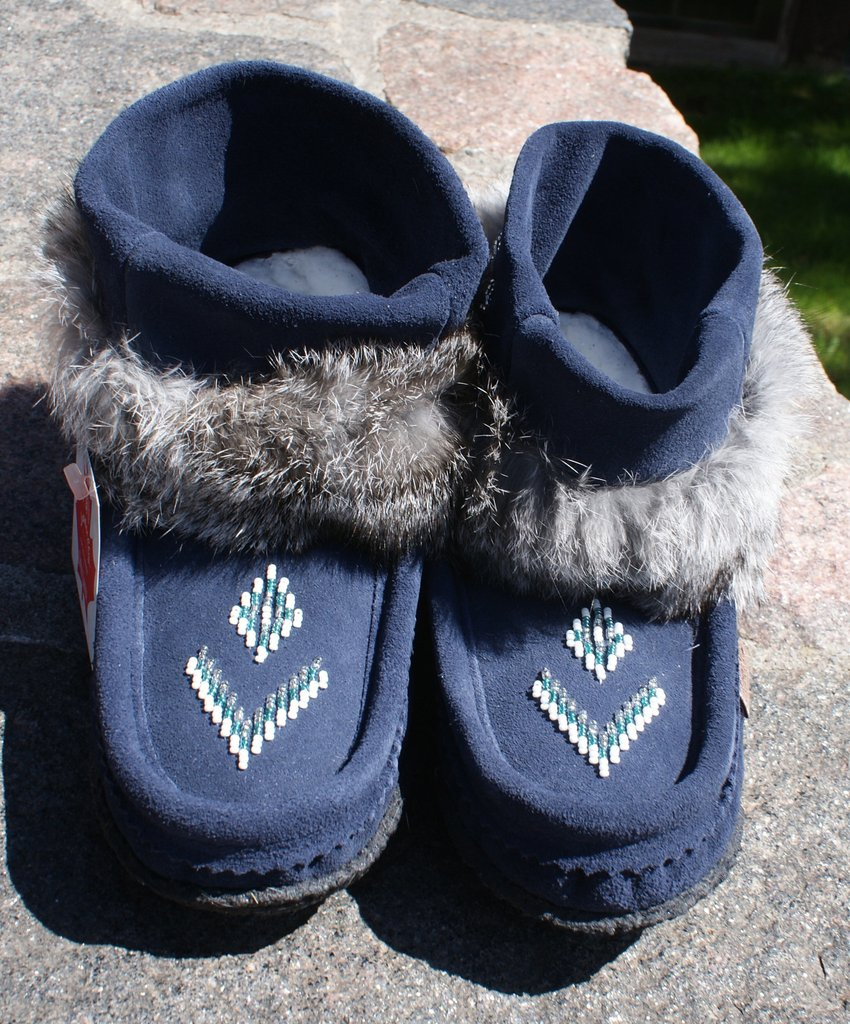 Mini Suede Mukluks-Navy Blue