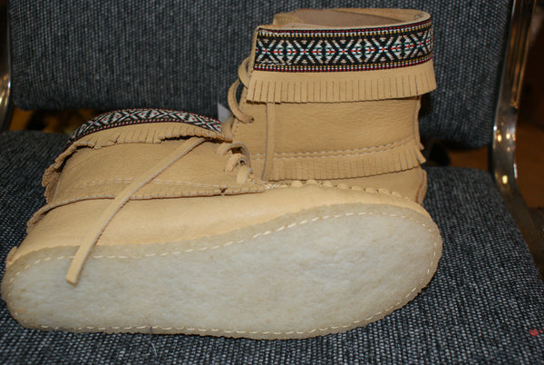 Ankle High Moose Hide Bootie