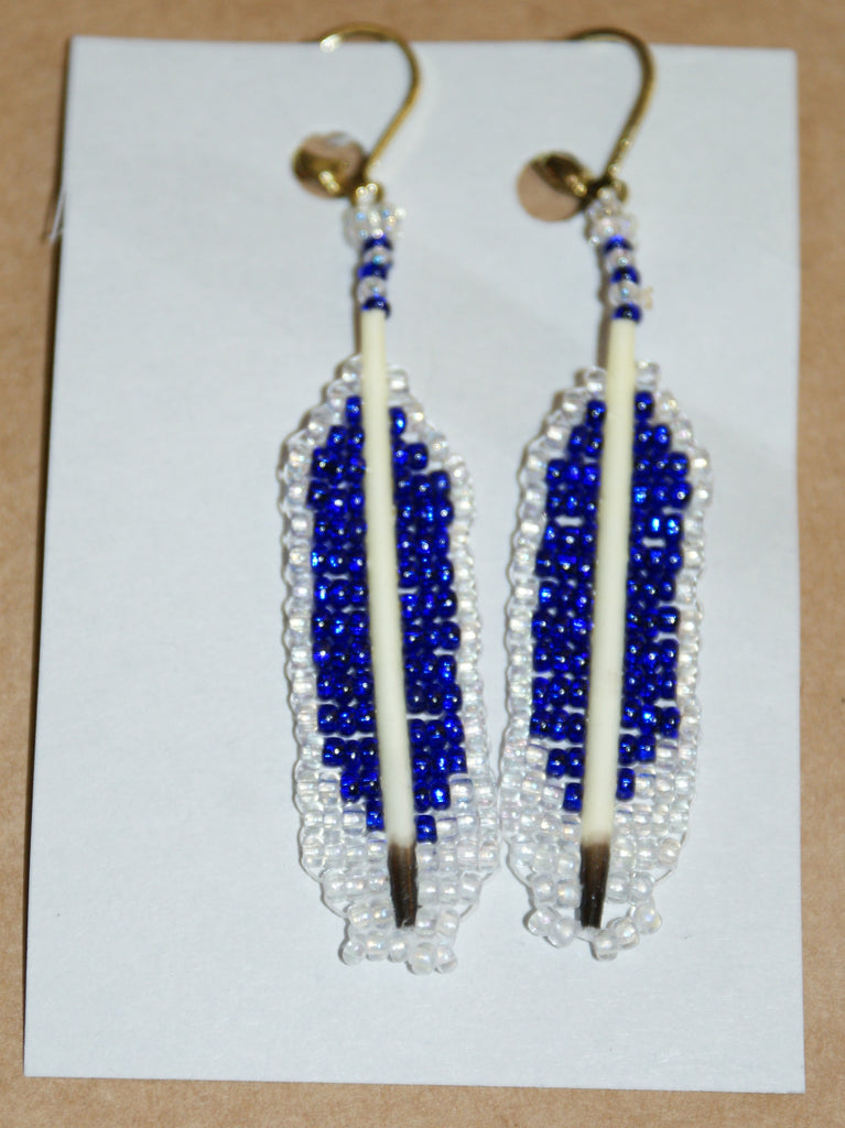 Quill and Feather Beaded Earrings