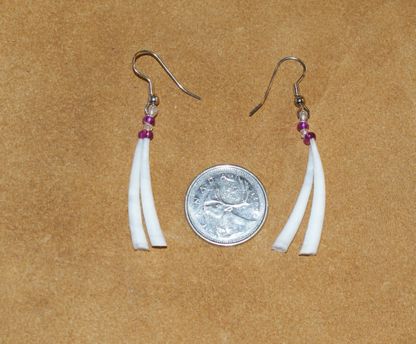Dentalium Shell Earrings