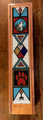 Wolf Spirit Feather Box