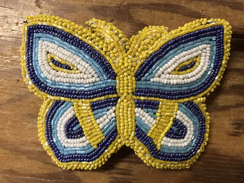 Butterfly Beaded Barrette