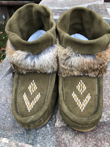 Mini Suede Mukluk-Army