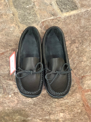 Bastien Mens Black Moccasin #186/8