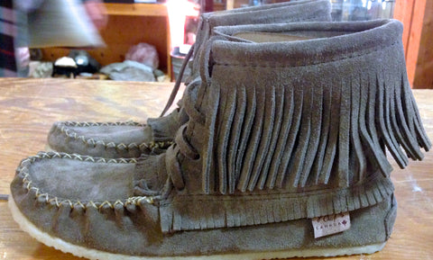 Sarena's Charcoal Fringed Boot