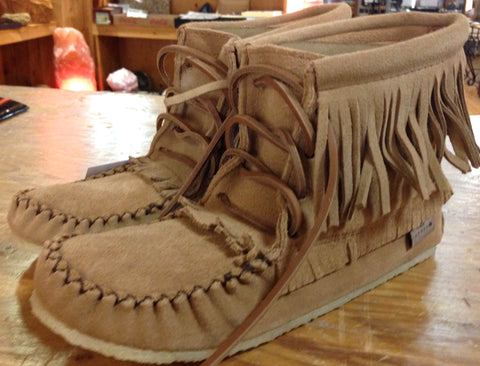 Sarena's Mocha Fringed Boot