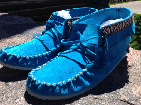 Turquoise Booties