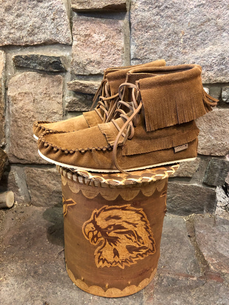 Mens Hi-Top Boot in Dark Tan Suede