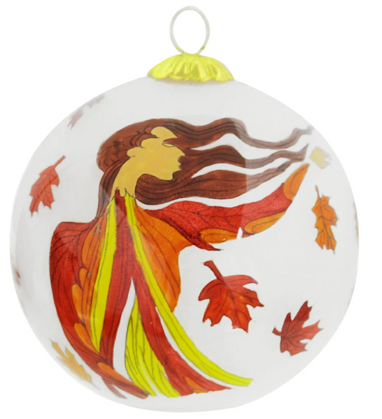 Leaf Dancer Ornament by Maxine Noel