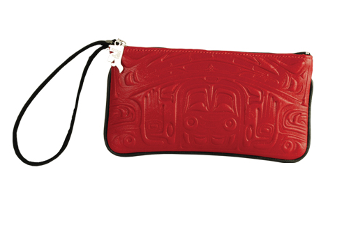 Bear Box Leather Wristlet