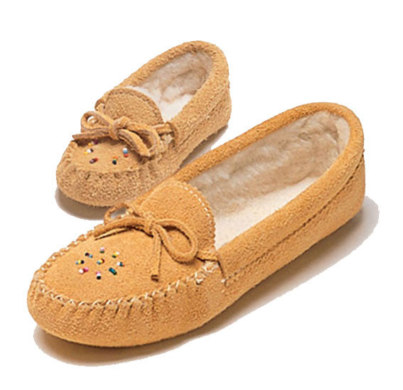 Suede and Fleece Baby Moccasins