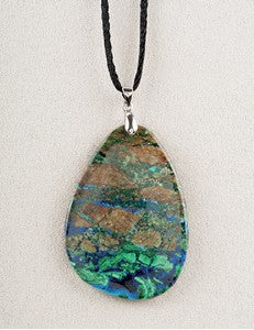 Azurite Malachite Medicine Stone Necklace