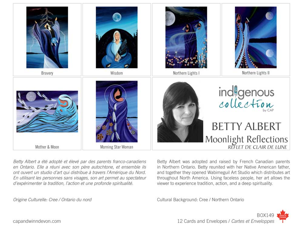 Moonlight Reflections Boxed Note Cards by Betty Albert