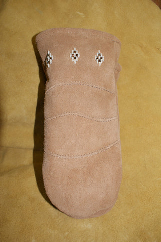 Suede Beaded Mitt