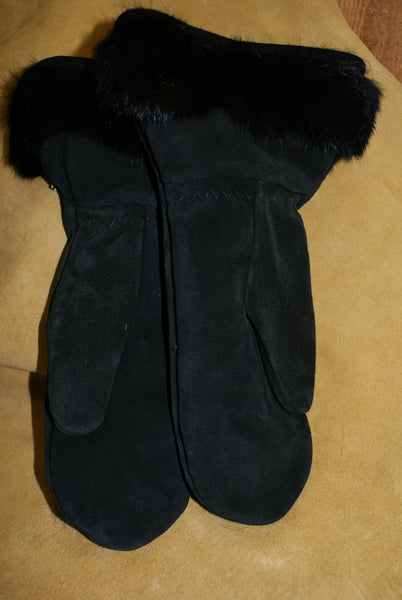 Half Length Black Mitts