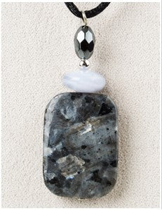 Black Labradorite Medicine Stone Necklace